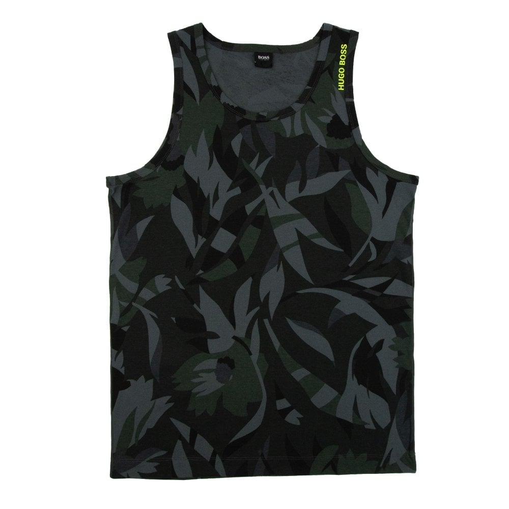 94cb7388 Hugo Boss Leaf Beach Tank Top Green | ONU