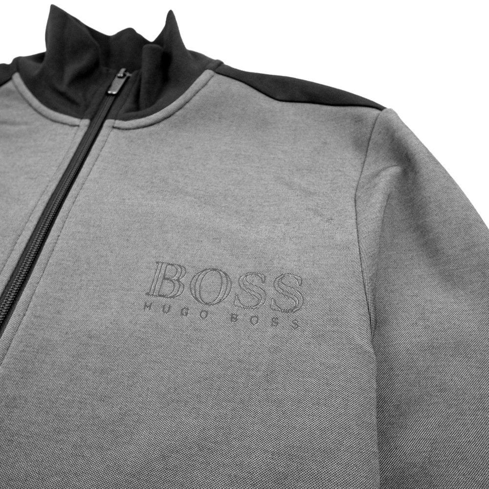 7649153f3 Hugo Boss Logo Zip Up Tracksuit Jacket Black | ONU