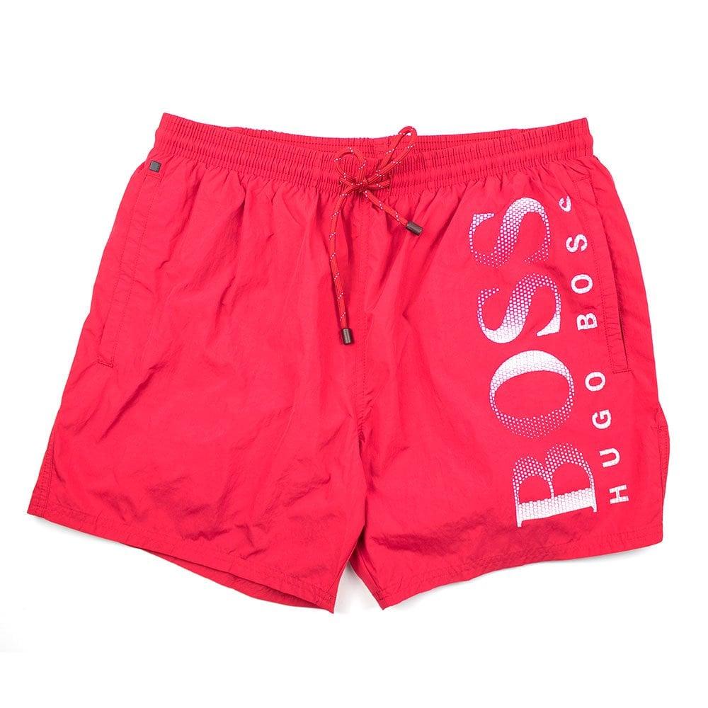 97c79b7d2a Hugo Boss Octopus Swim Shorts Red | ONU