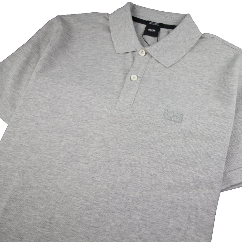 28c762df5e8b Hugo Boss Pallas Short Sleeve Polo Shirt Light Grey | ONU