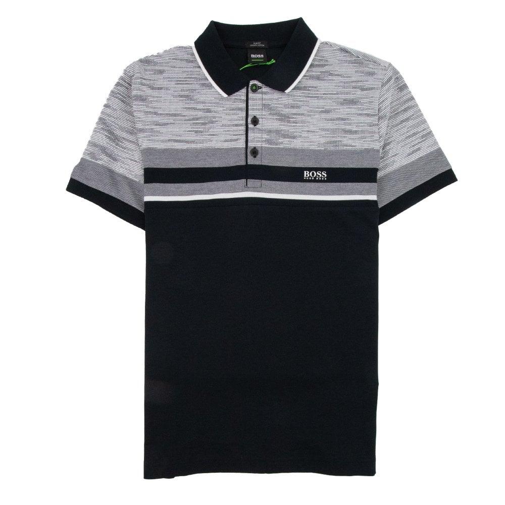 ff8804d97 Hugo Boss Paule 5 Short Sleeve Polo Shirt Black grey
