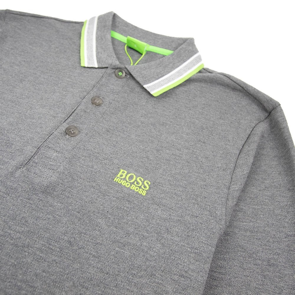 5e0173a4 Hugo Boss Plisy 1 Long Sleeve Polo Dark Grey/Green | ONU