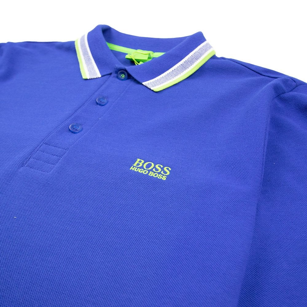 a3778fa4351 Hugo Boss Plisy 1 Long Sleeve Polo Electric Blue | ONU