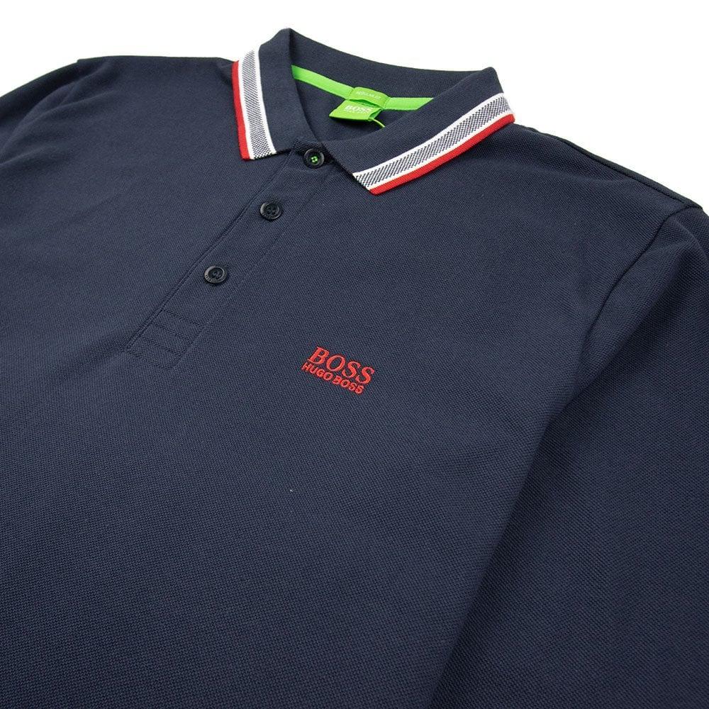 5e446ad22 Hugo Boss Plisy 1 Long Sleeve Polo Navy Red