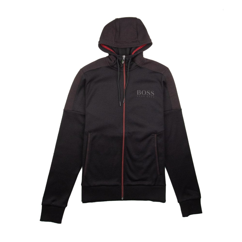 325251ee Hugo Boss Saggy Zip Up Hoody Black/Red | ONU