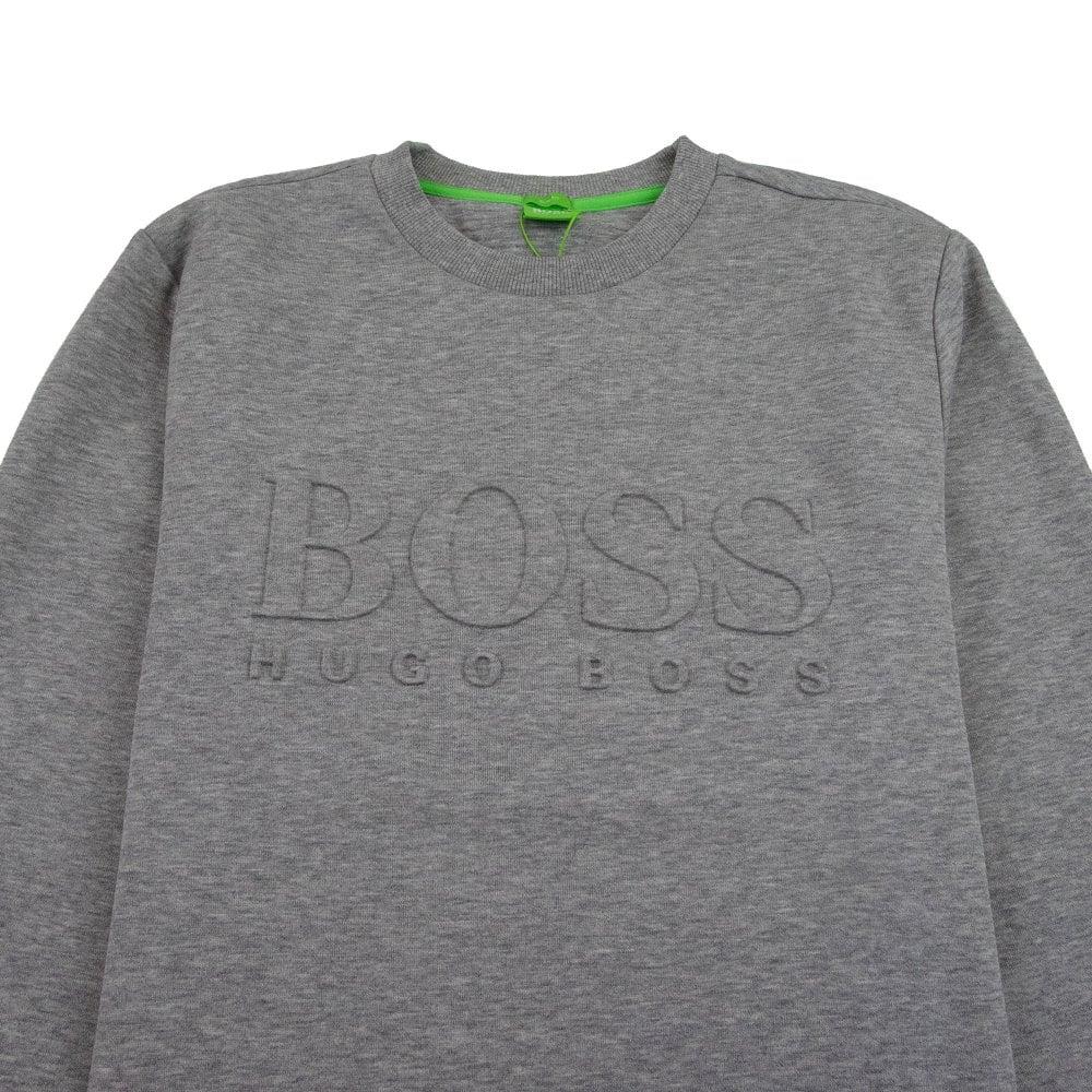 Hugo Boss Salbo Embossed Logo Crewneck Sweatshirt