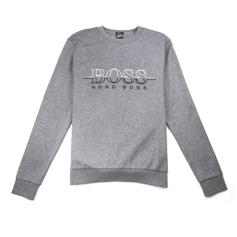 5a260c84e2 Hugo Boss Salbo Logo Crewneck Sweatshirt Grey | ONU