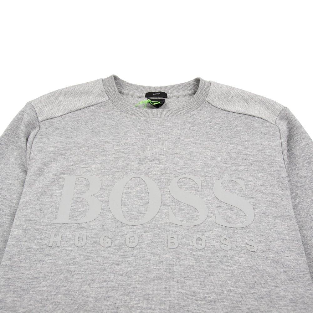 5e9aa67191 Hugo Boss Salbo Logo Sweatshirt Grey | ONU