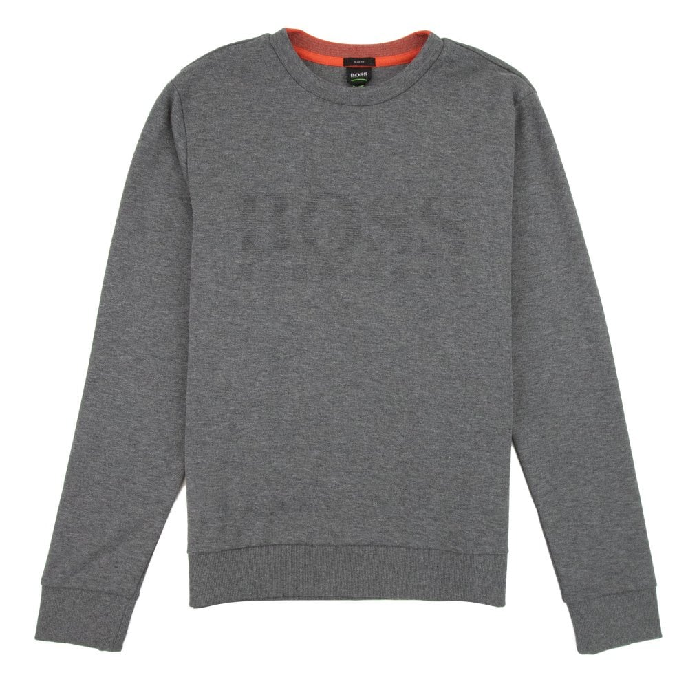 6168c95744 Hugo Boss Salbo Sweatshirt Grey/Red | ONU