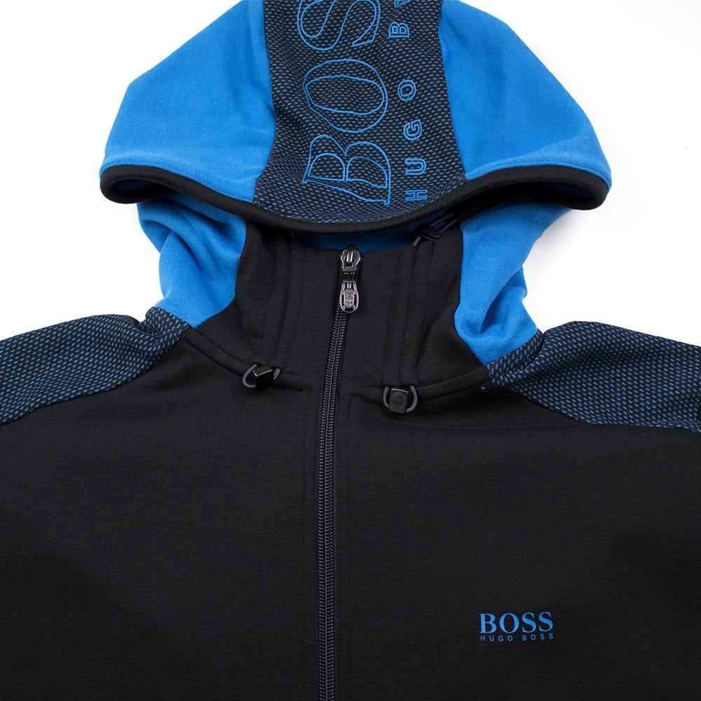 a2c10f9e8 Hugo Boss Selnio Hoody Blue/Black | ONU