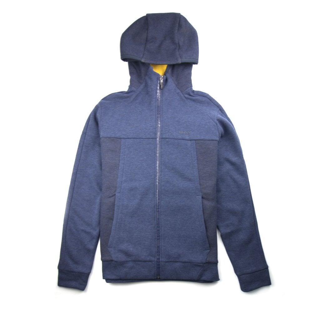 e9a77c107 Hugo Boss Selwyn Zip Up Hoodie Blue | ONU