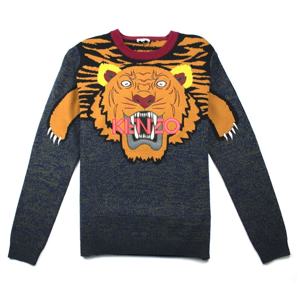 0504d7ab4 Kenzo All Over Knitted Tiger Jumper Orange | ONU
