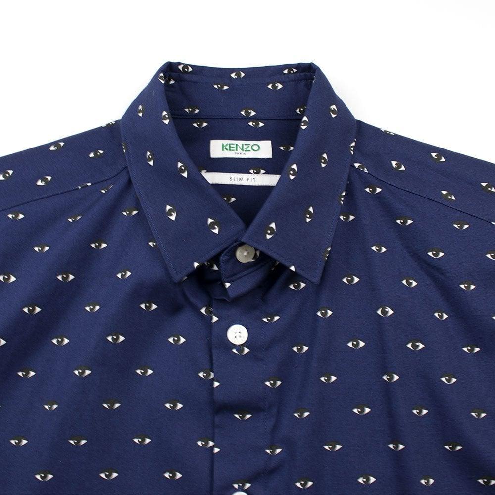 05b843a7d2 Eye Print Long Sleeve Shirt Navy