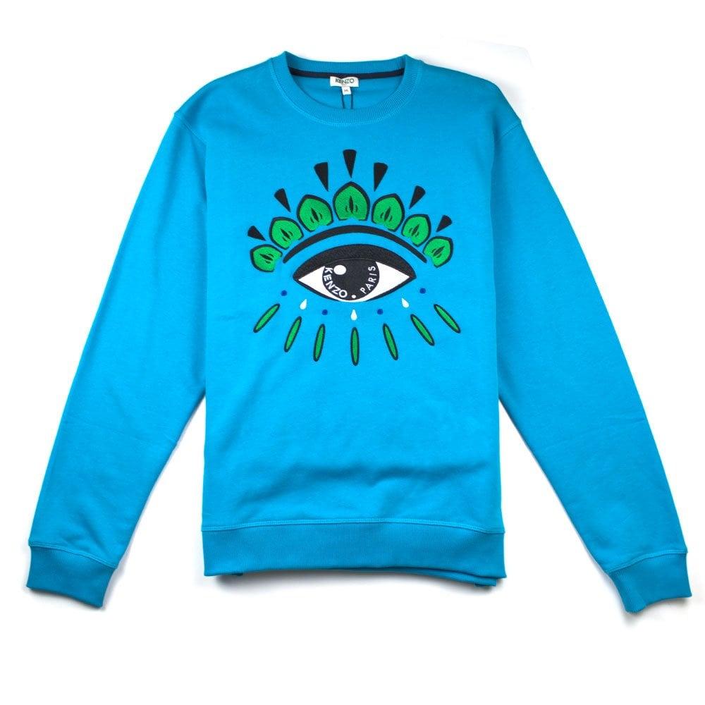 98e6a14fb41e Kenzo Eye Sweatshirt Turquoise | ONU