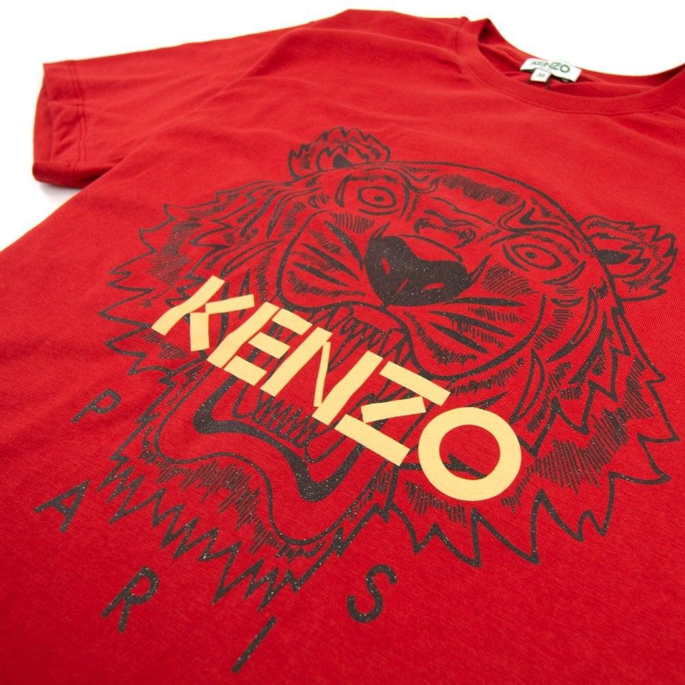 red kenzo shirt