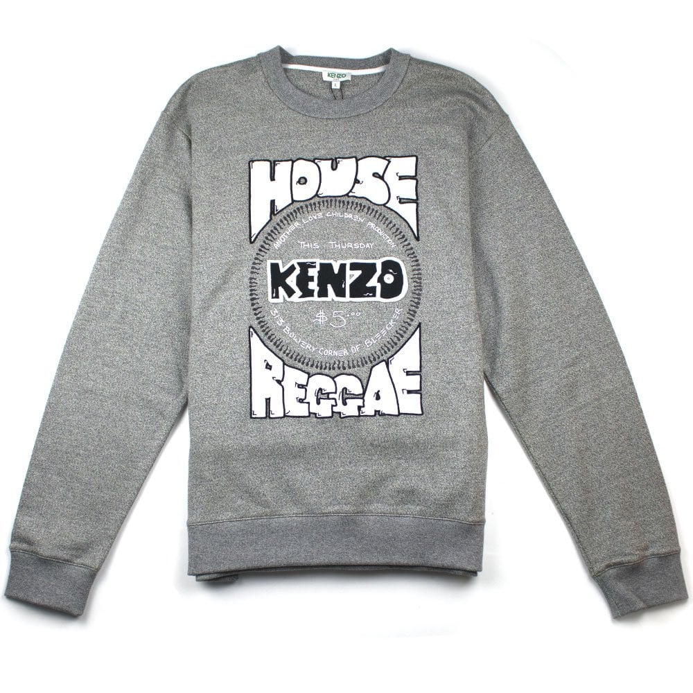 f426275581 Kenzo House-Reggae Sweatshirt Grey   ONU