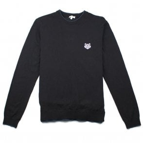 32374453c Kenzo Small Tiger Crest Knitted Jumper Black