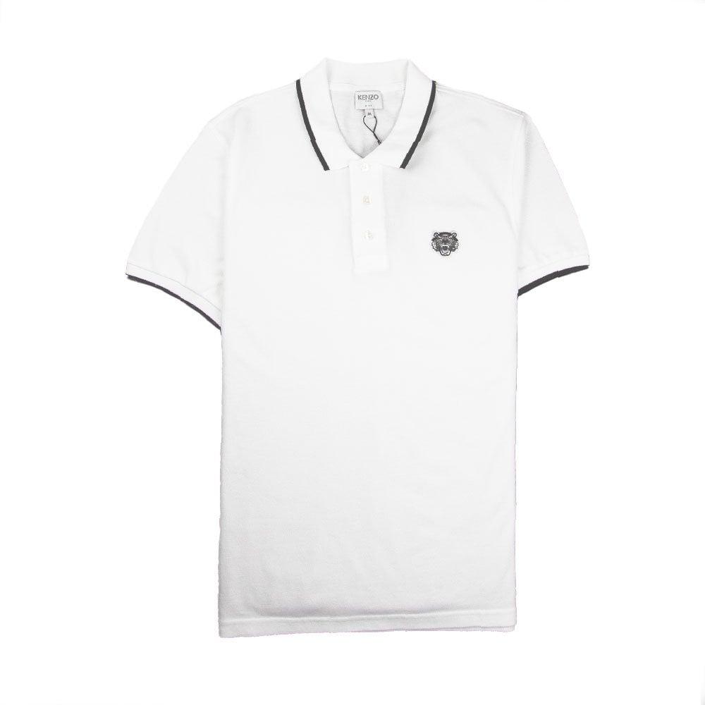 347cd1742e Kenzo Tiger Crest Polo White/Black | ONU