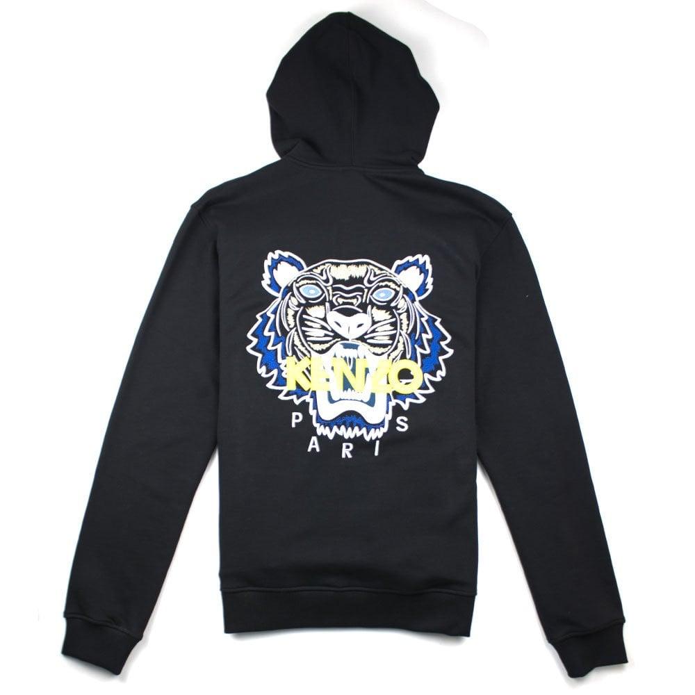 72e35bbb Kenzo Tiger Zip Up Hoody Black   ONU