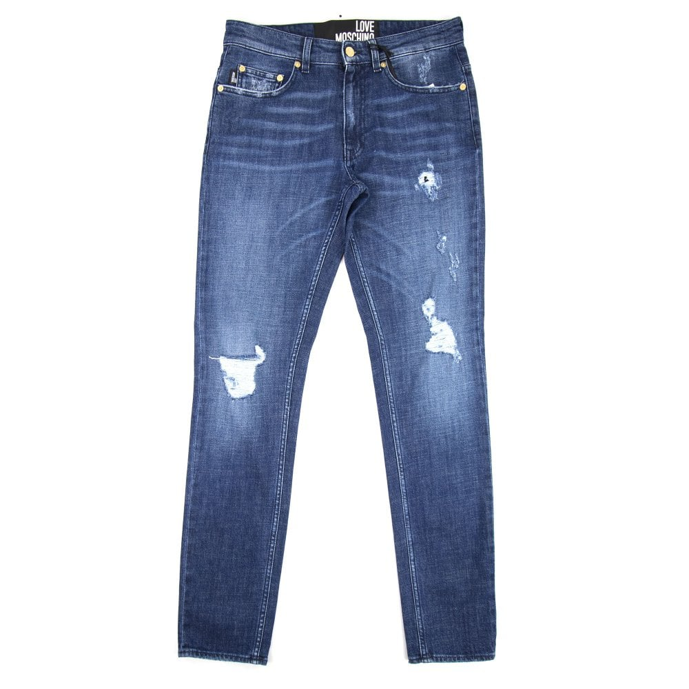 30933c12a3 5 Pocket Peace Logo Jeans Denim