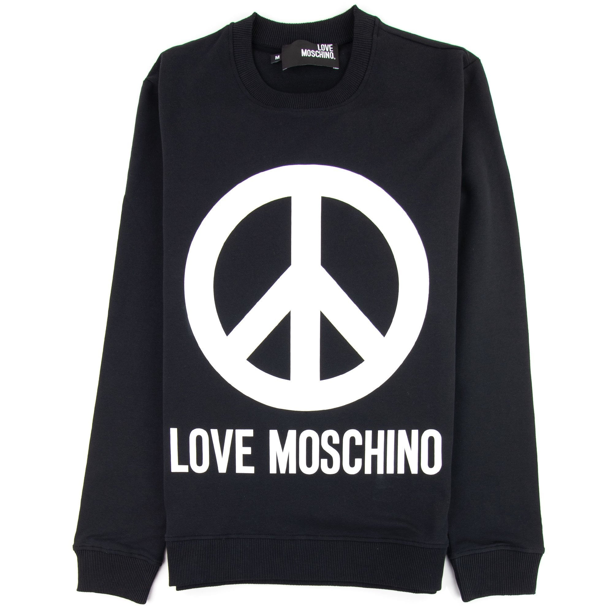 Love Moschino Love Moschino Black Peace Sign Jumper