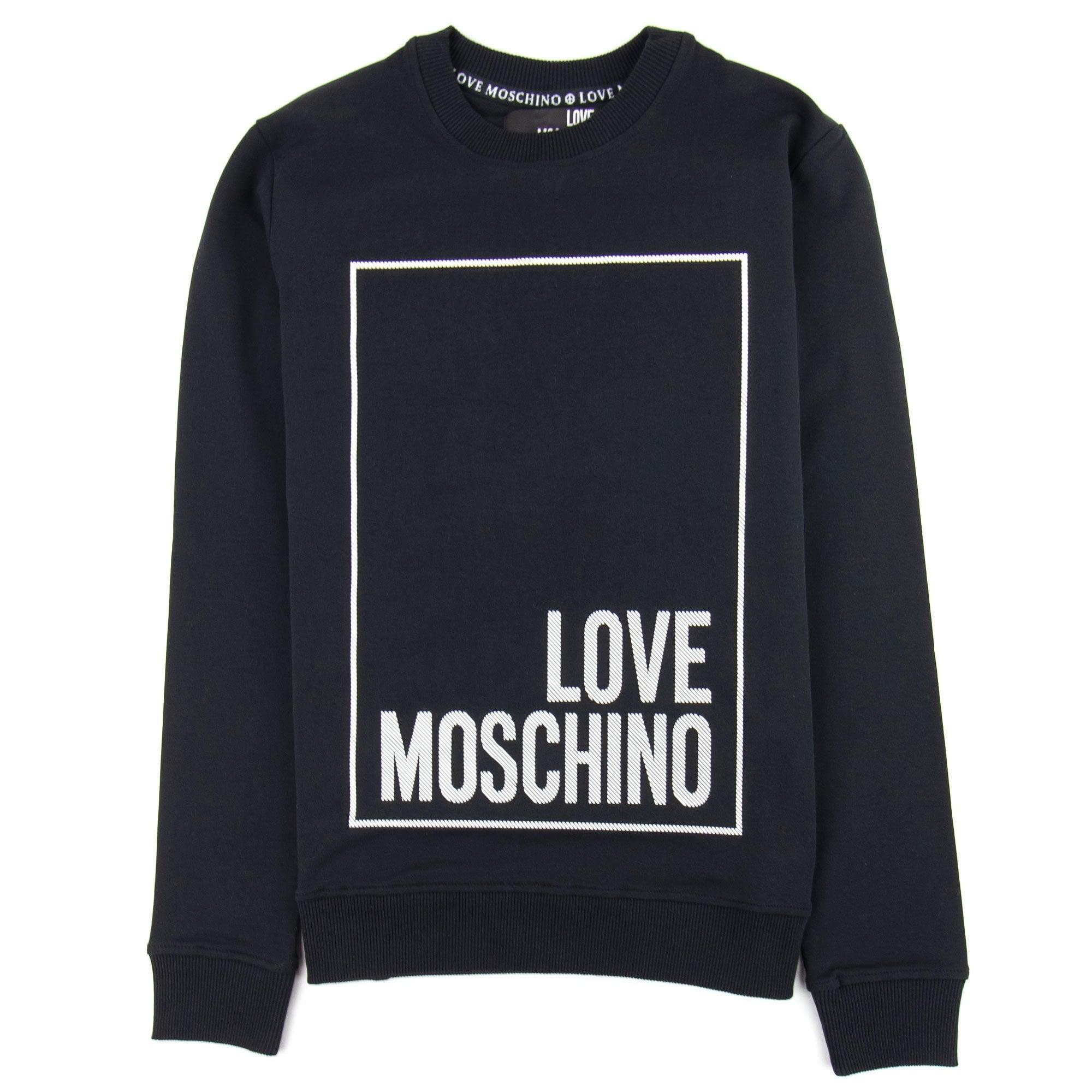 Love Moschino All Over Logo Jumper Black