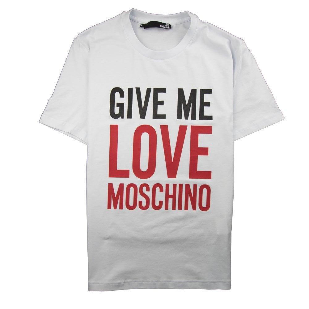 db60a404 Love Moschino Give Me Love T-Shirt White | ONU