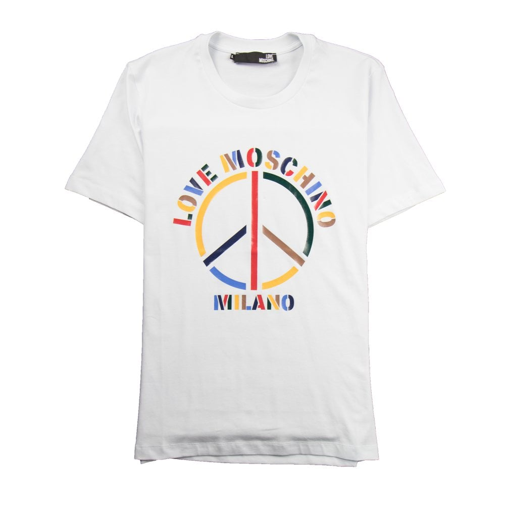 fe66962772d Love Moschino Peace T-Shirt White   ONU
