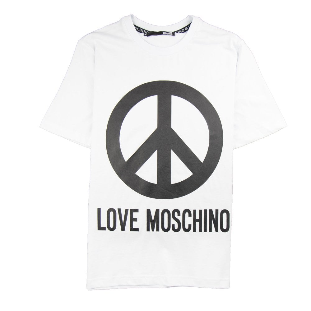 b2dedcdf760 Love Moschino Peace T-Shirt White | ONU