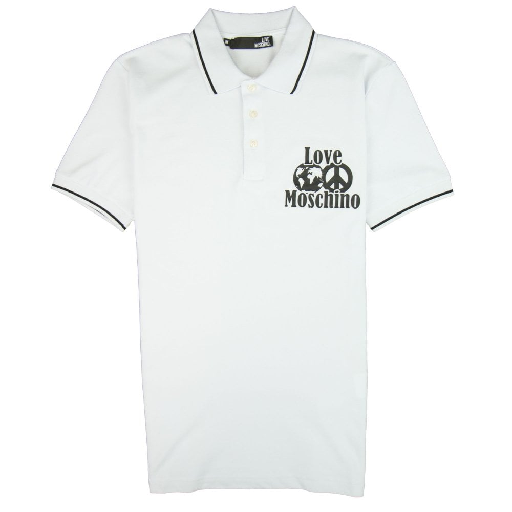 the latest a9706 cd047 World Peace Polo Shirt White