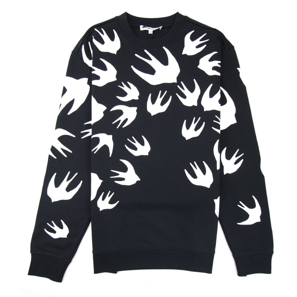 mcq by alexander mcqueen swallow swarm sweatshirt black 1000 onu mcq by alexander mcqueen mcq by alexander mcqueen swallow swarm sweatshirt black 1000