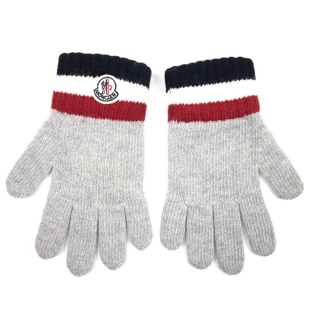 331de90ae880 Moncler Guanti Virgin Wool Gloves Grey