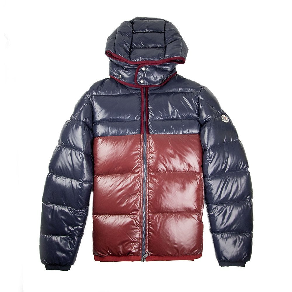 39ff538a8 Harry Hooded Down Jacket Navy/Burgundy