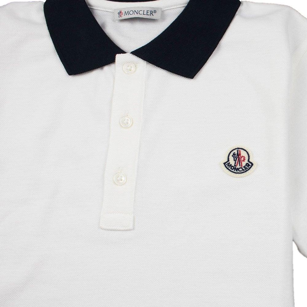3d23273e7 Contrast Collar Short Sleeve Polo Shirt White/Navy