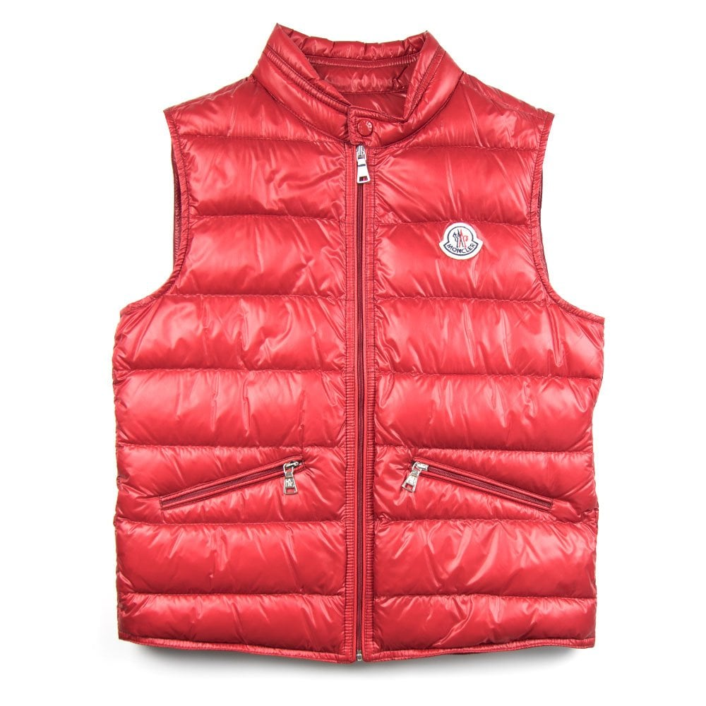 b9a9b690c6c3 Moncler Junior Gui Gilet Red