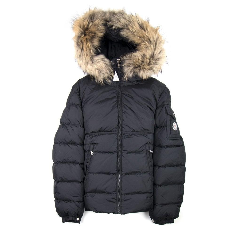 8666d6cfe Moncler Junior Moncler Fur Byron Jacket Black