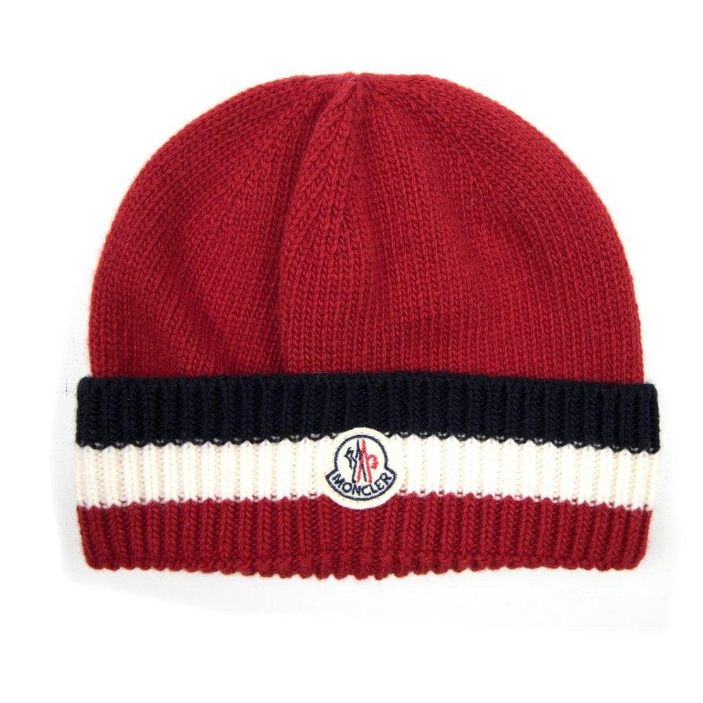 6579666b6fd Moncler Knitted Tri Colour Beanie
