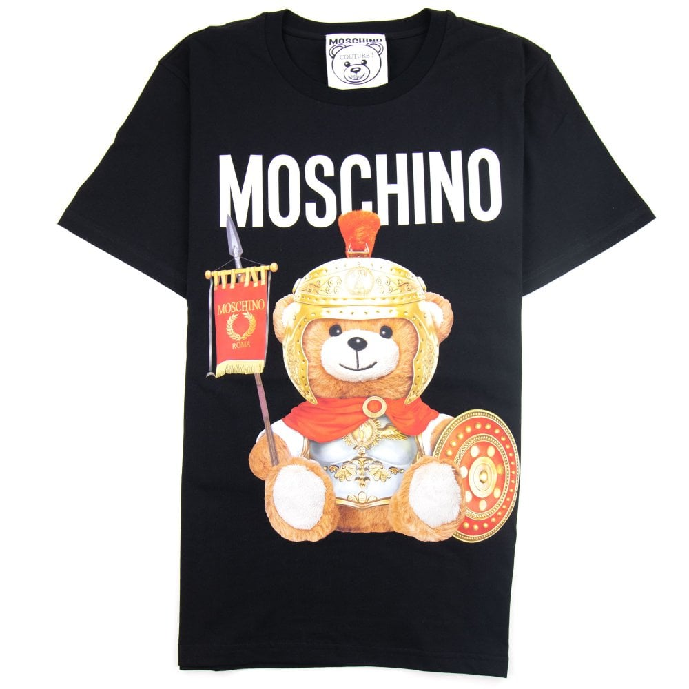 up-to-date styling nuovo stile del 2019 fornitore ufficiale Moschino Couture Roman Teddy Bear T-shirt Black | ONU