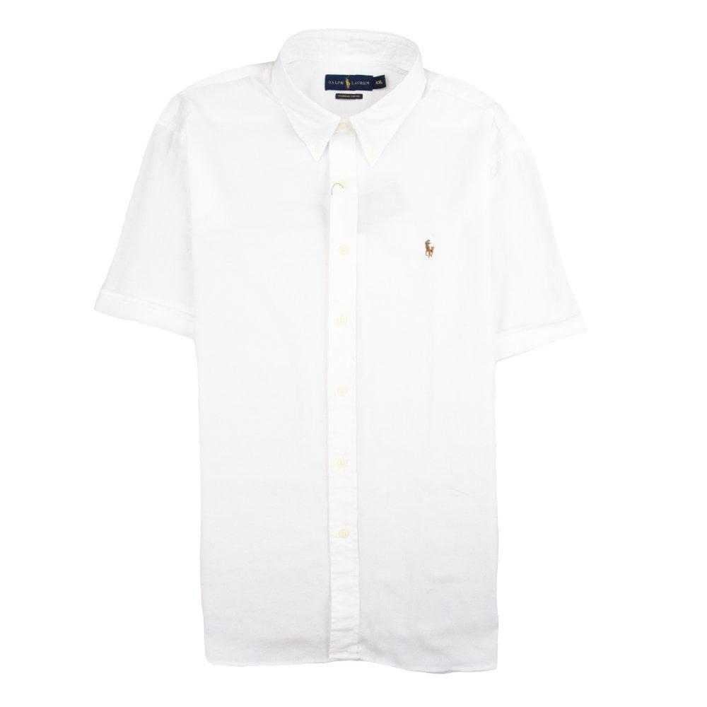 Chambray Sleeve Shirt Oxford Short White e9IWDH2YbE