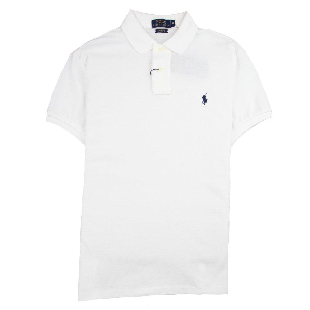 wholesale sales cheap wholesale dealer Custom Fit Short Sleeve Polo Shirt White
