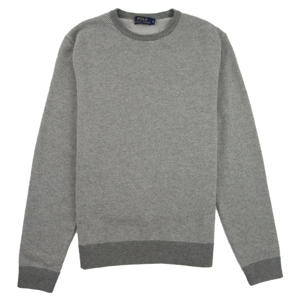 Lightweight Ralph Light Sweatshirt Lauren Polo Neck Grey Crew MqzpGUSV