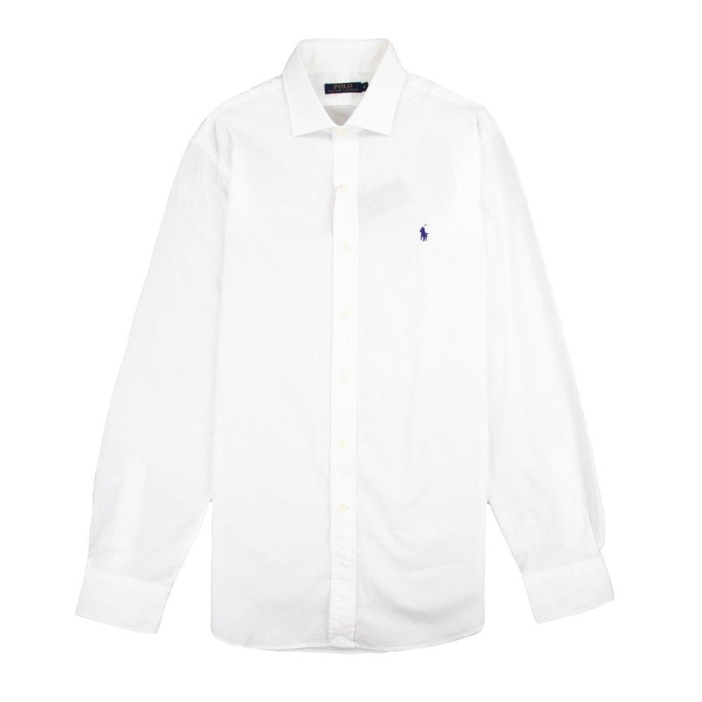 ec15792e19 Slim Fit Long Sleeve Polo Shirt White