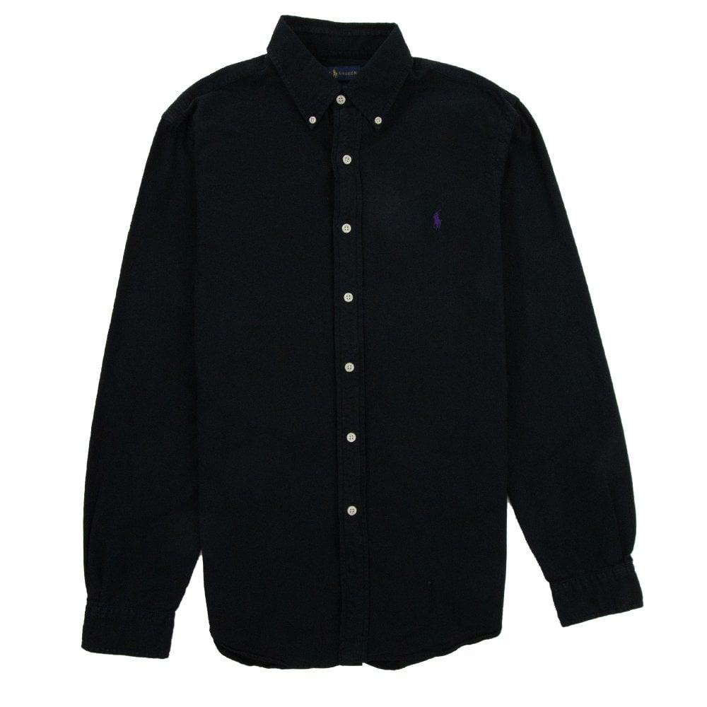 6ef9365b42 Polo Ralph Lauren Polo Ralph Lauren Slim Fit Washed Long Sleeve Shirt Black