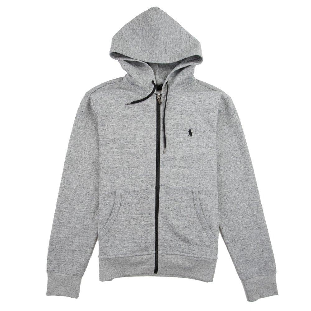 d75d9256d3a967 Polo Ralph Lauren Small Logo Zip Up Hoody Grey | ONU
