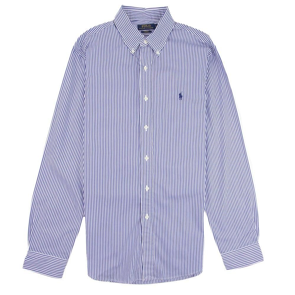 e83dba574d10 Polo Ralph Lauren Wersm Stripe Slim Fit Long Sleeve Shirt Blue/white