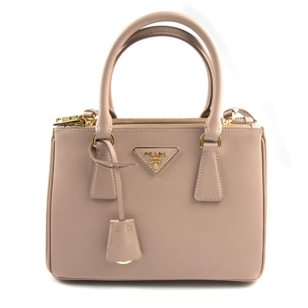 c4943ddf9c9fa7 Prada Galleria Mini Saffiano Leather Bag Blush Pink (Nude) | ONU