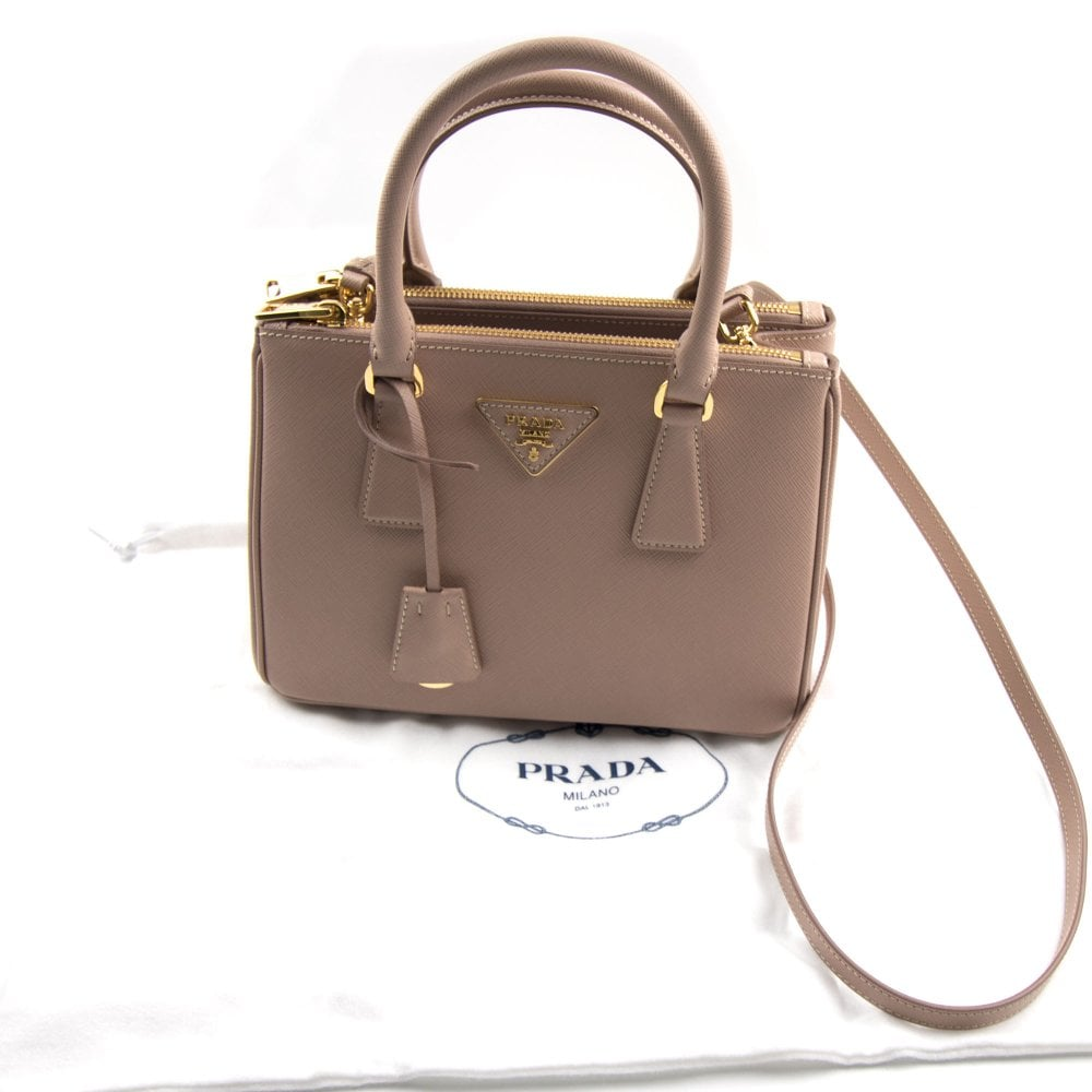606ae63ca3cc Prada Galleria Mini Saffiano Leather Bag Blush Pink (Nude)