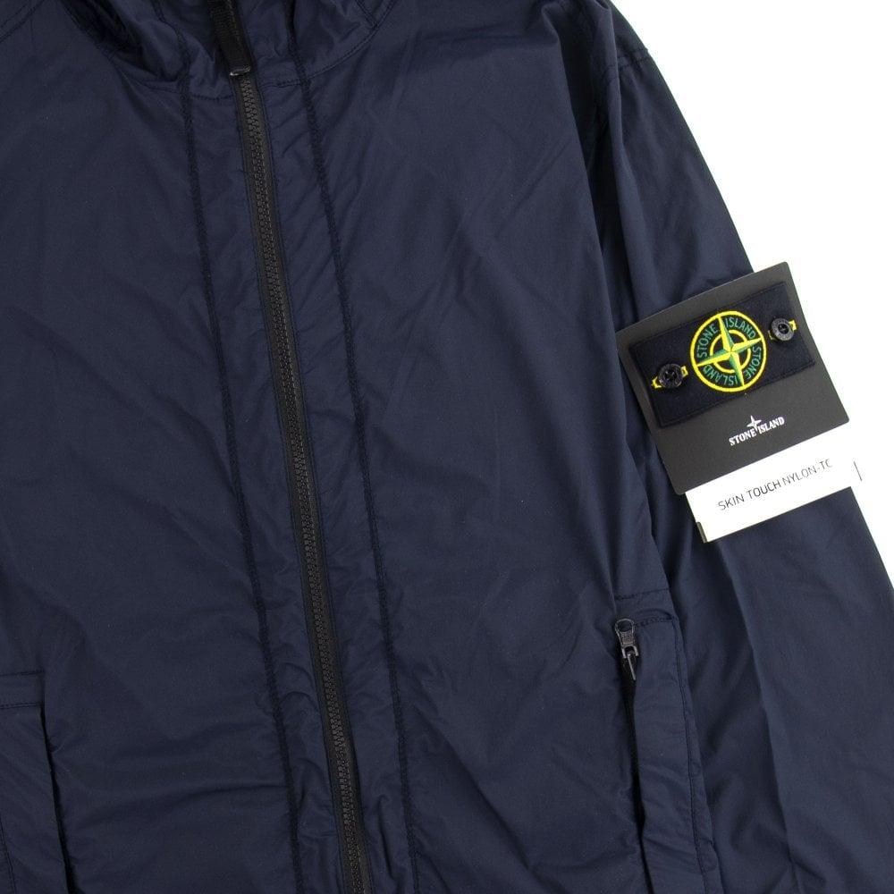 Stone Island 43831 Skin Touch Nylon T Packable Jacket Navy V0020 Onu