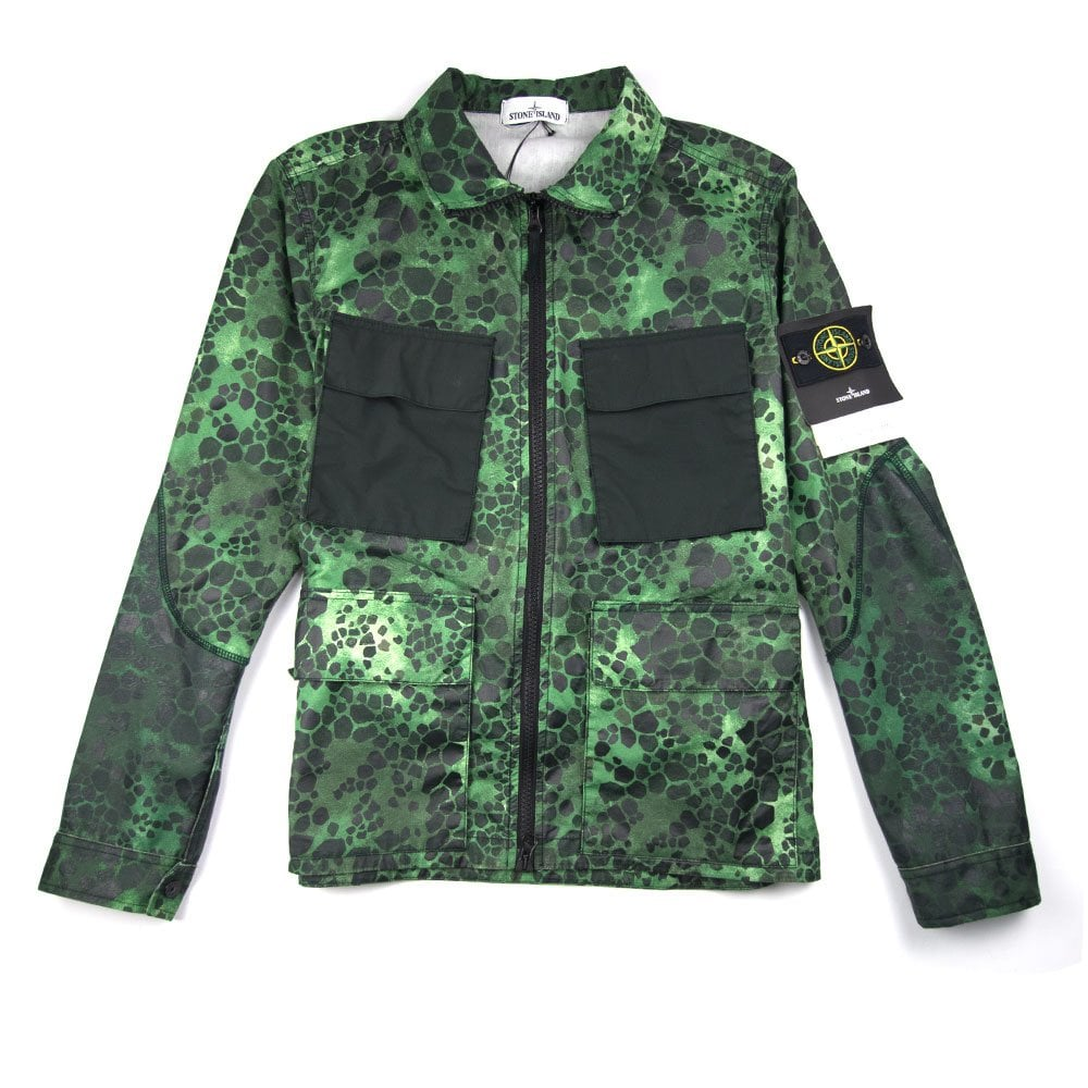 a51e3cf3 Stone Island Alligator Zip Up Jacket 50 Fili Green Camo - Men from ...
