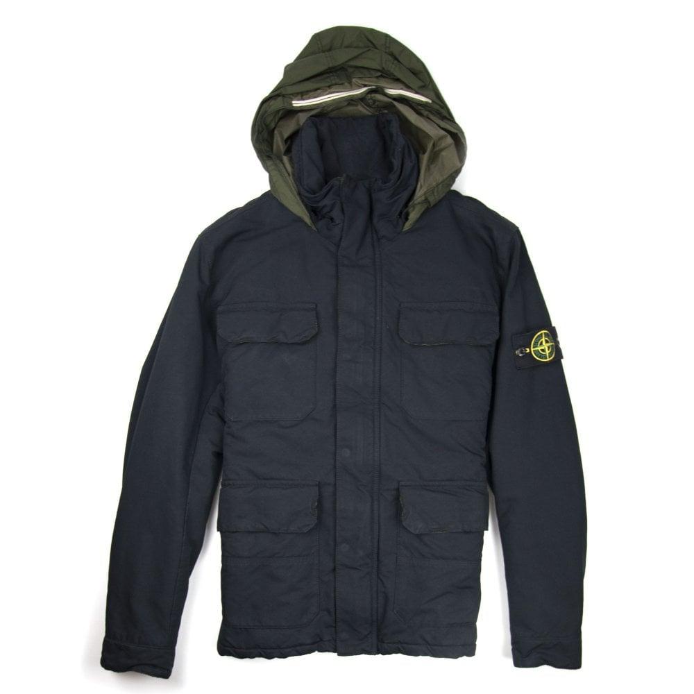 Stone Island David Ovd Field Jacket Navy Onu Designerwear